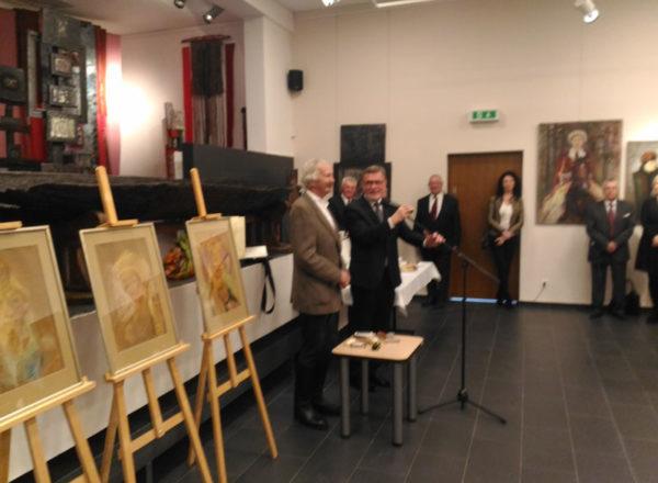Wystawa obrazów Macieja Falkiewicza w Mielniku 24.02.2019r.